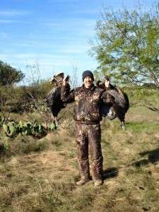 11/21/15 - Ron Denison with Turkeys shot near Brownwood