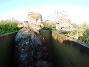 1/18/16 - El Campo Duck Hunt - Ken Miller in pit blind